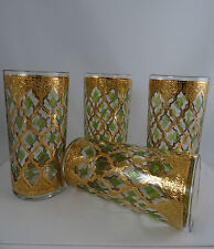 4 Vintage Culver Retro MCM Valencia Highball Drinking Glasses