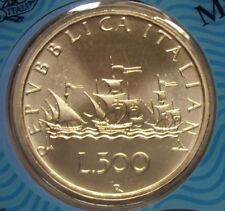 ITALIA REPUBBLICA 1999 500 LIRE CARAVELLE DA DIVISIONALE ZECCA FDC