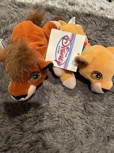 "NEW Disney Kovu Kiara The Lion King Plush Bean Bag Simbas Pride 8"" TAGS!"