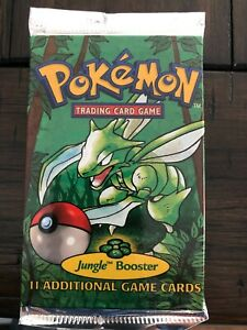1999 Pokemon Jungle Booster Pack Factory Sealed Trading Card Game VINTAGE