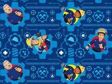 """Jersey """" Feuerwehrmann Sam """" blau - Feuerwehr - Kinderstoff"""