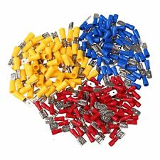 100 Pair Male & Female Electrical Crimp Connectors Terminals Assortment Kit