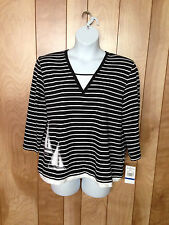 WOMEN'S ALFRED DUNNER WOMAN LONG SLEEVE KNIT TOP-SIZE: PXL