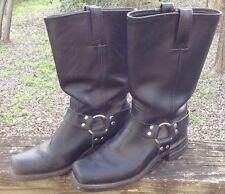 Frye Black Leather Boots Harness Pull On Western Moto Womens Sz 9M