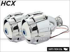 "New! H1 Bi-Xenon HID Xenon Projectors + Shrouds 2.5"" Mini Headlight Retrofit SET"