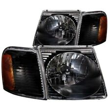 Anzo 111041 Crystal Headlight Set 2pc For 01-05 Ford Explorer Sport Trac NEW