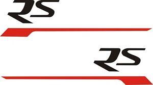 Triumph Street Speed triple RS side pod panel vinyl stickers