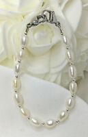 White Genuine Pearl Medical ID Alert Replacement Bracelet - New - Free Shipping