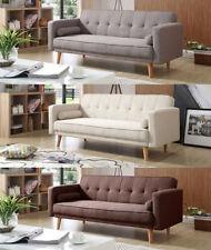 Canapés-lits gris en tissu pour la maison