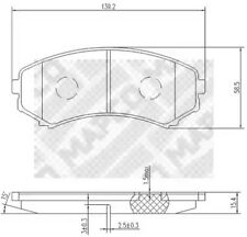 Brake Pad Set, disc brake MAPCO 6785