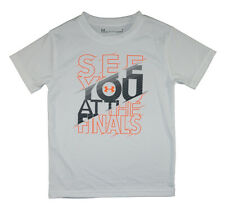 Under Armour Boys S/S White See You At The Finals Top Size 5