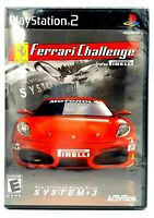 PlayStation 2 FERRARI CHALLENGE TROFEO PIRELLI Video Game New Factory Sealed