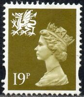 1995 Wales Sg W71 19p bistre (1 band at right) Unmounted Mint