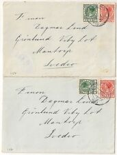 COVER PAYS BAS NETHERLANDS 2 COVERS TO SWEDEN.  L487