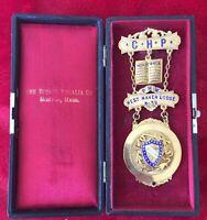1901 A.O.U.W. WEST HAVEN LODGE NO. 59 BRASS PRESENTATION MEDAL -  with CASE