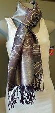 Scarf Women's Fashion Accessory Purple Silver Trendy Hip Joe Boxer Gift Idea