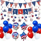 Patriotic Party Supplies - Bunting Flag Balloons Hanging Swirls American Ball...