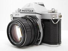 [EXC+++] Pentax K2 SLR Camera Silver body w/ SMC M 50mm f1.4 from Japan