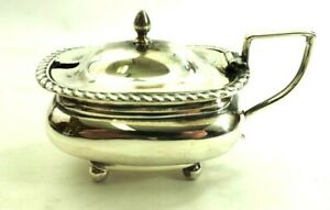 Early English Sugar or Mustard Lidded Bowl Sterling Silver