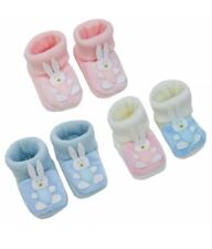 CUTE KNITTED BUNNY BOOTIES BY SOFT TOUCH