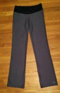 CHAMPION PETITE SMALL GRAY/ BLACK YOGA PANTS