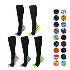 Compression Socks Knee High Anti Fatigue Flight Running Varicose For Men Ladies
