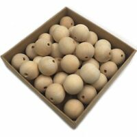 30Pcs Painted Natural Wooden Rings Beads For Pet Hamster Parrot Chew Toy Parts