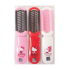 Hello Kitty Hair Brush Folding Mirror Portable Pocket Comb