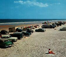 Cars Parked on the Beach Daytona, Florida classic vintage, bus, Hot Dog Truck