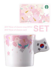 Starbucks Korea 2017 Rose of sharon tumbler Mug 237ml + sharon Card SET