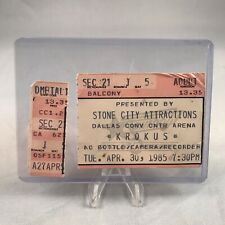 Krokus Dallas Convention Center Arena TX Concert Ticket Stub Vintage Apr 30 1985