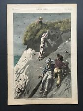 WINSLOW HOMER 1874 HARPER'S WEEKLY RAID ON A SAND-SWALLOW COLONY HOW MANY EGGS