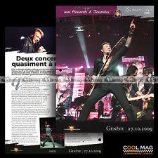 #jh044.08 ★ TOUR 66 CONCERT A GENEVE 27 OCTOBRE 2009 ★ Fiche JOHNNY HALLYDAY
