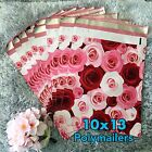 40 Designer Printed Poly Mailers 10X13 Shipping Envelopes Bags ROSES