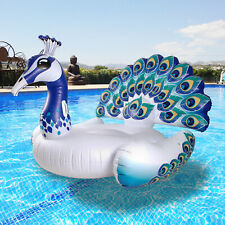Inflatable Peacock Giant Ride On Swimming Pool Float Water Lilo Lounger Floating