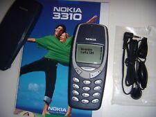 NOKIA 3310 GSM ORIGINALE BLUE 2000 UNLOCKED + ACCESSORI ORIGINALI+BATTERIA NUOVA