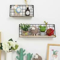 Wall Mount Floating Storage Shelves Hanging Display Shelf Organizer Decor Holder