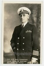 RPPC Postcard Photograph 1928 San Diego Capt. C W Cole Training Station US Navy