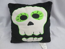 HALLOWEEN SKELETON SCARY MUMMY BLACK WHITE GREEN PLUSH THROW DECORATIVE PILLOW