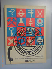 Branchen-Fernsprechbuch  für die Hauptstadt der DDR Berlin  Deutschen Post 1988