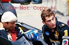 Ayrton Senna & Elio De Angelis Lotus F1 Portrait 1985 Photograph