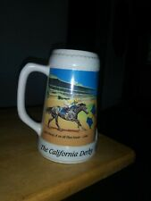 Golden Gate Fields Beer Stein 2000 Willie Shoemaker & Laffit Pincay Horse Race