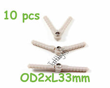 10pcs Nylon Pivot & Round Hinges D2xL33mm, RC Plane Airplane US TH008-00101