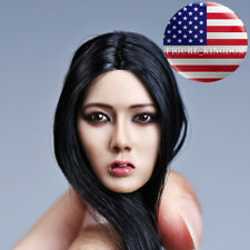 "1/6 Asian Female Head Sculpt For 12"" TBLeague PHICEN Hot Toys Female Figure USA"