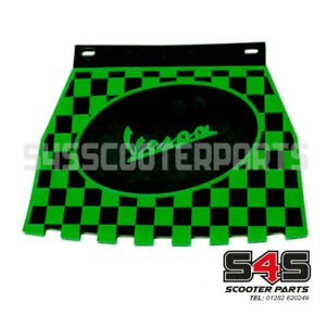 Mud Flap - Black & Green Chequered For Vespa Scooter Mudflap