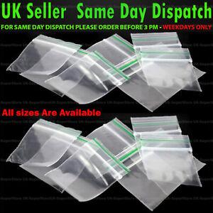 🔥100x Small Clear Bags Plastic Baggies Baggy Grip Self Seal Resealable Zip Lock