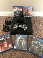 Sony PlayStation 4 500GB Slim Console Plus 2 Controllers & 5 Games Including GTA