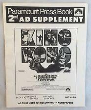 Rare Vintage 1976 King Kong Film Original Theatre Pressbook Paramount
