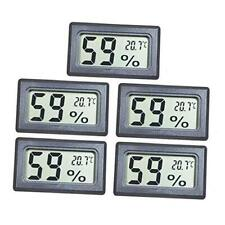 EEEKit 5-Pack Mini Thermometer Hygrometer, Small LCD Digital Temperature Humidit