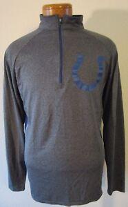 NWT Indianapolis Colts Mens 1/4-Zip Pullover Shirt Top L Charcoal MSRP$50